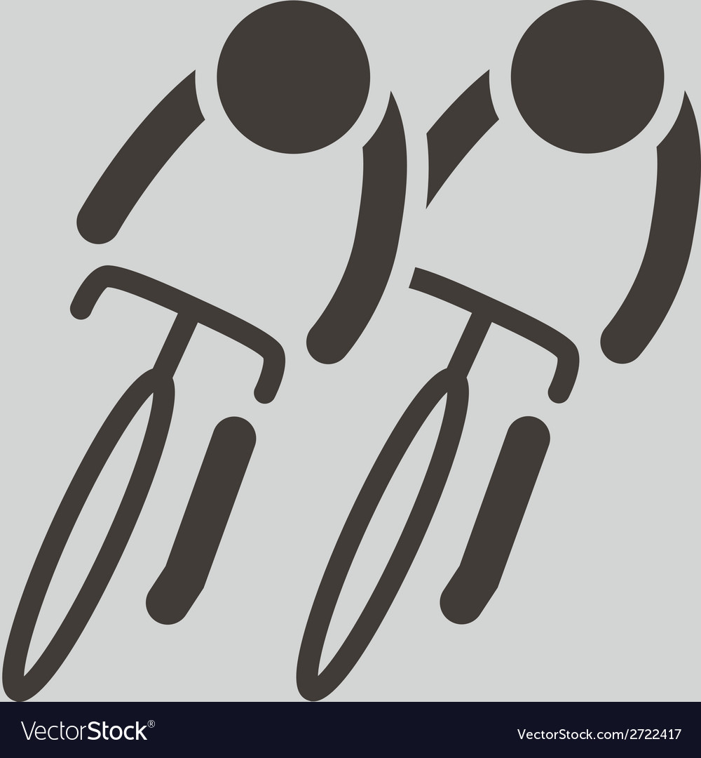 Cycling road icon vector | Price: 1 Credit (USD $1)
