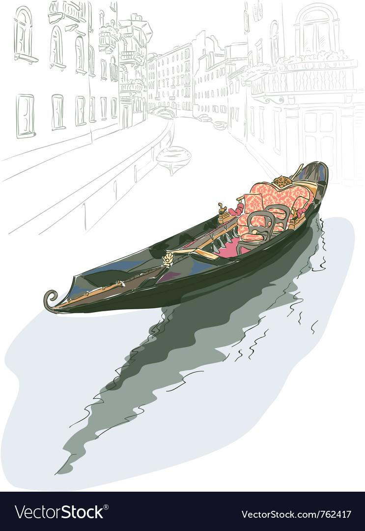 Gondola watercolor style vector   Price: 3 Credit (USD $3)