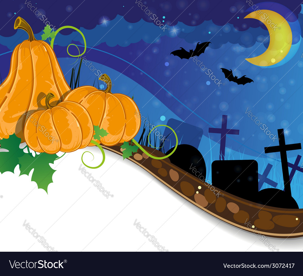 Halloween cemetery vector | Price: 3 Credit (USD $3)
