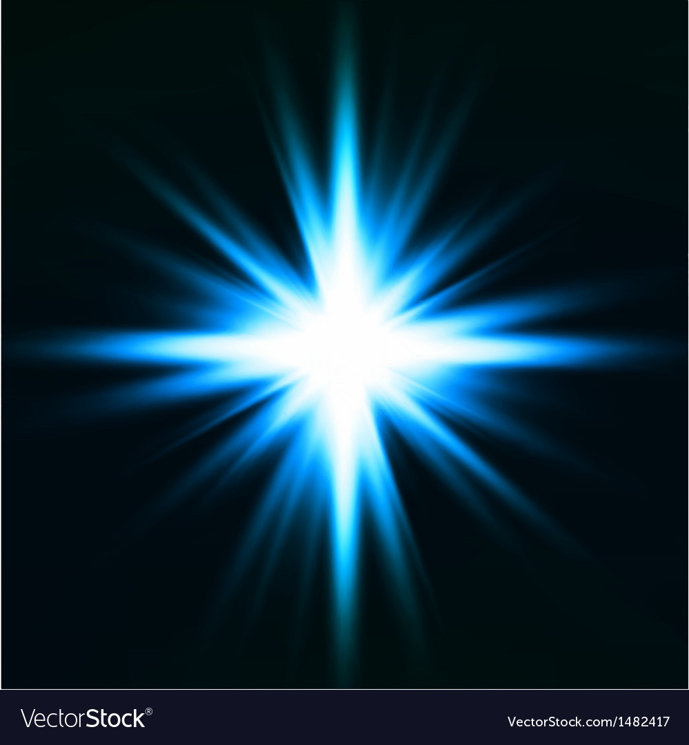 Light flare blue effect vector | Price: 1 Credit (USD $1)