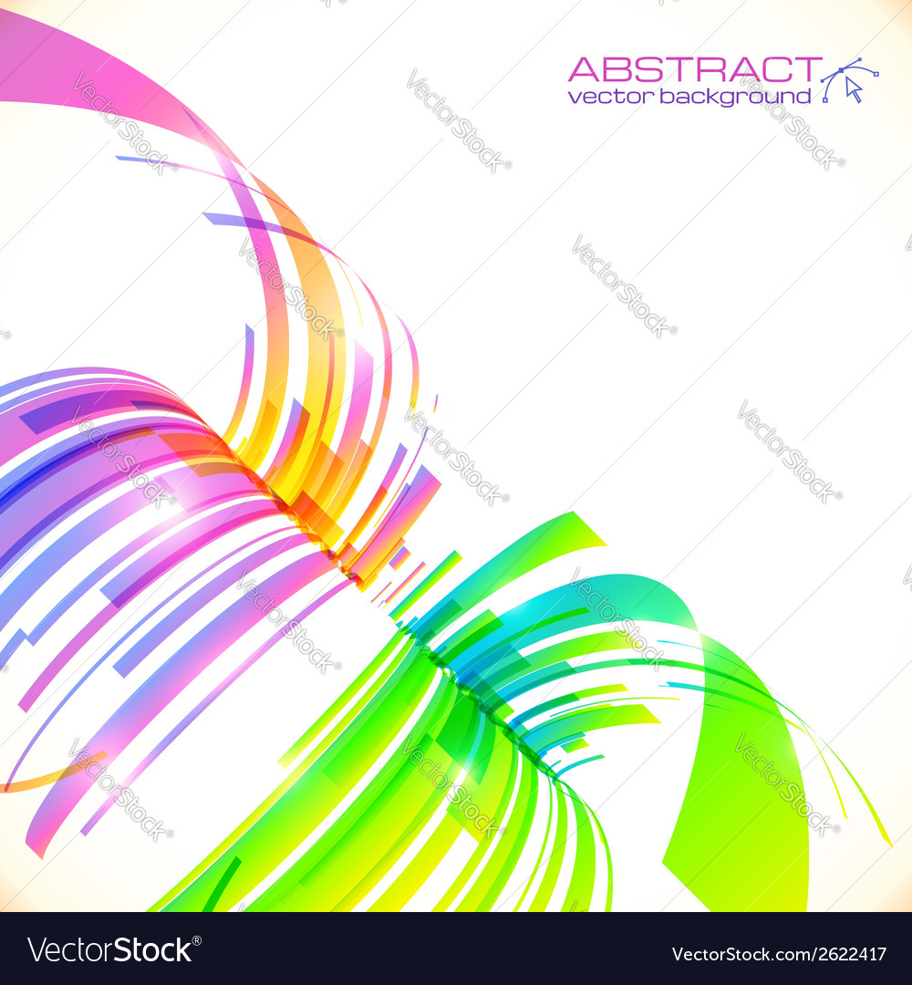 Rainbow colors abstract perspective background vector | Price: 1 Credit (USD $1)