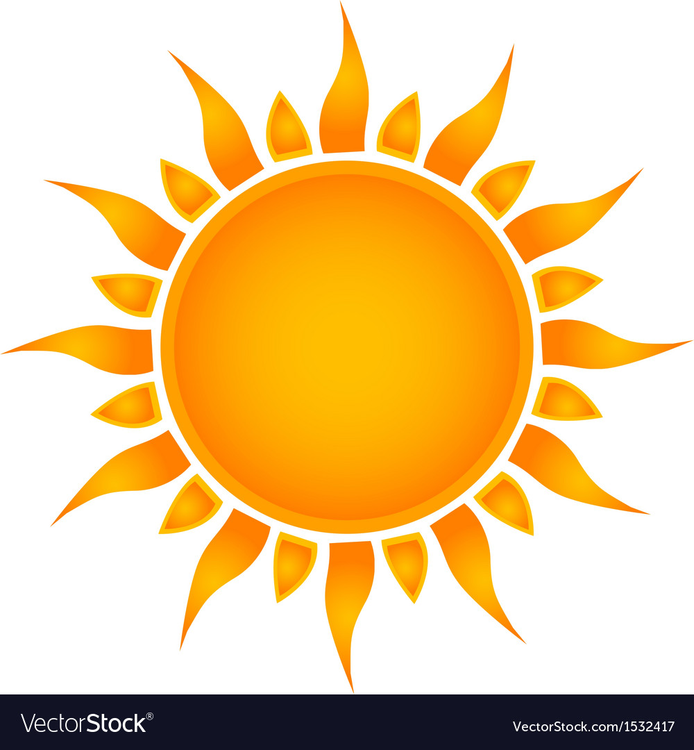 Sun over white  vector