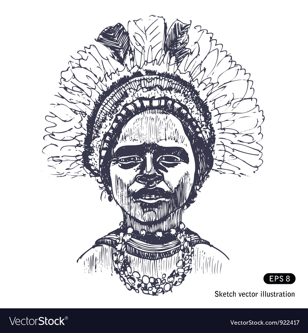 Traditional clothes of papuans vector | Price: 1 Credit (USD $1)