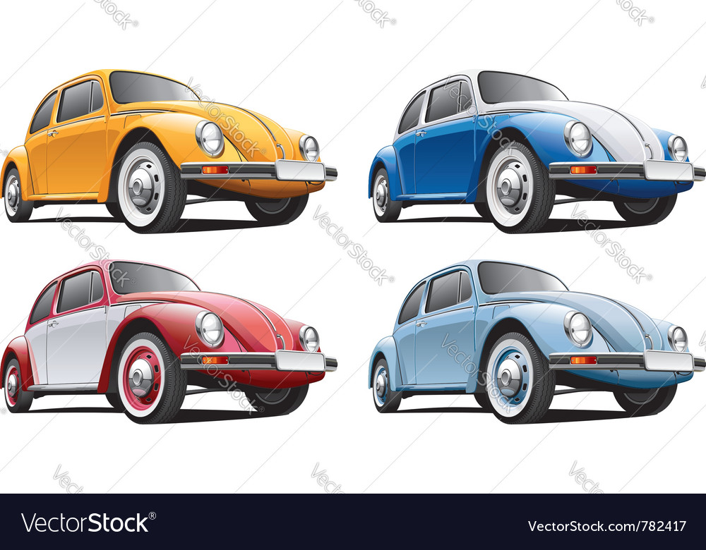 Vintage classic vw beetle vector | Price: 3 Credit (USD $3)