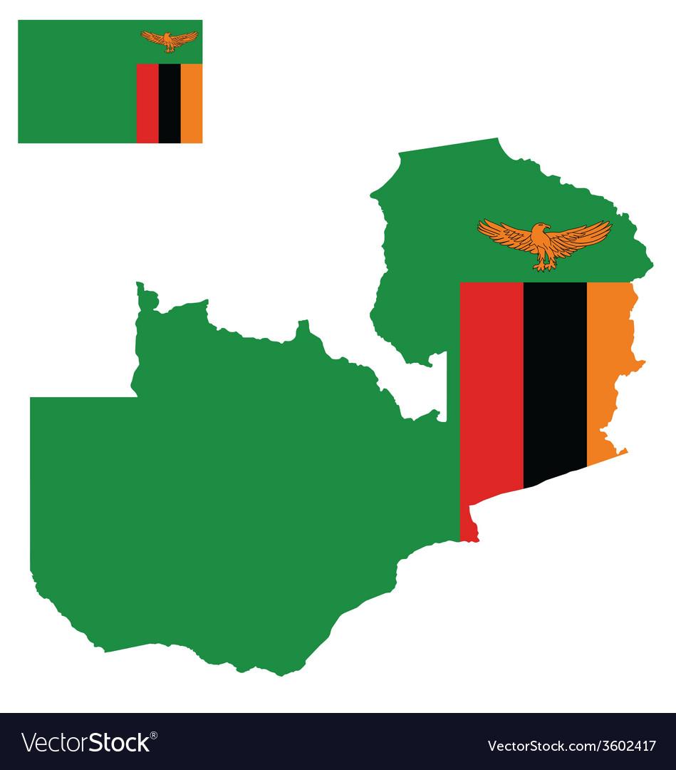 Zambia flag vector | Price: 1 Credit (USD $1)