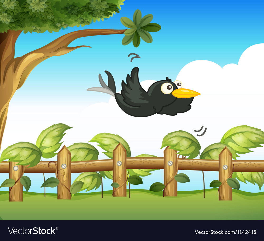 A bird in the garden vector | Price: 1 Credit (USD $1)