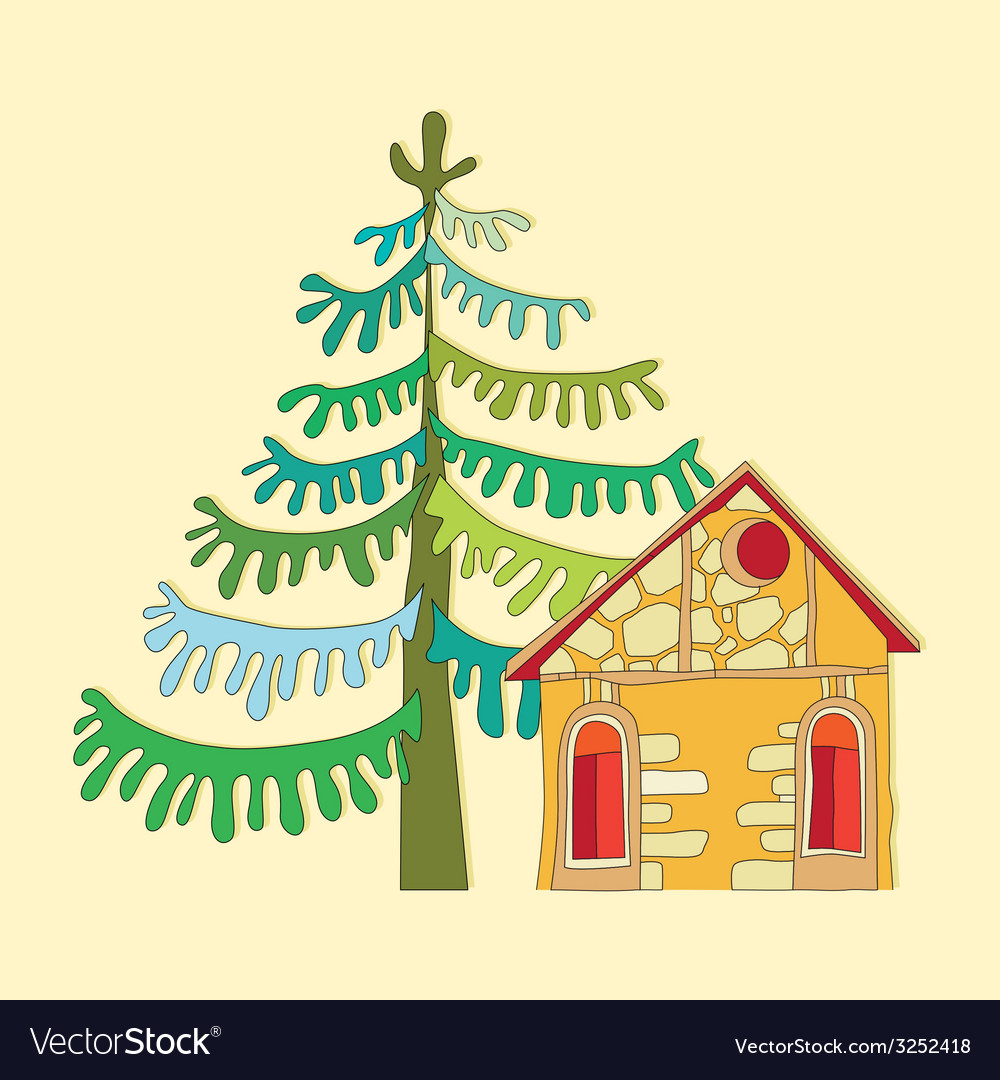 Drawing a house vector | Price: 1 Credit (USD $1)