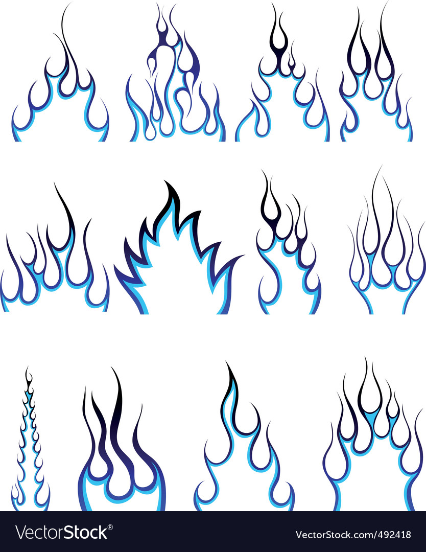 Fire pattern set vector   Price: 1 Credit (USD $1)