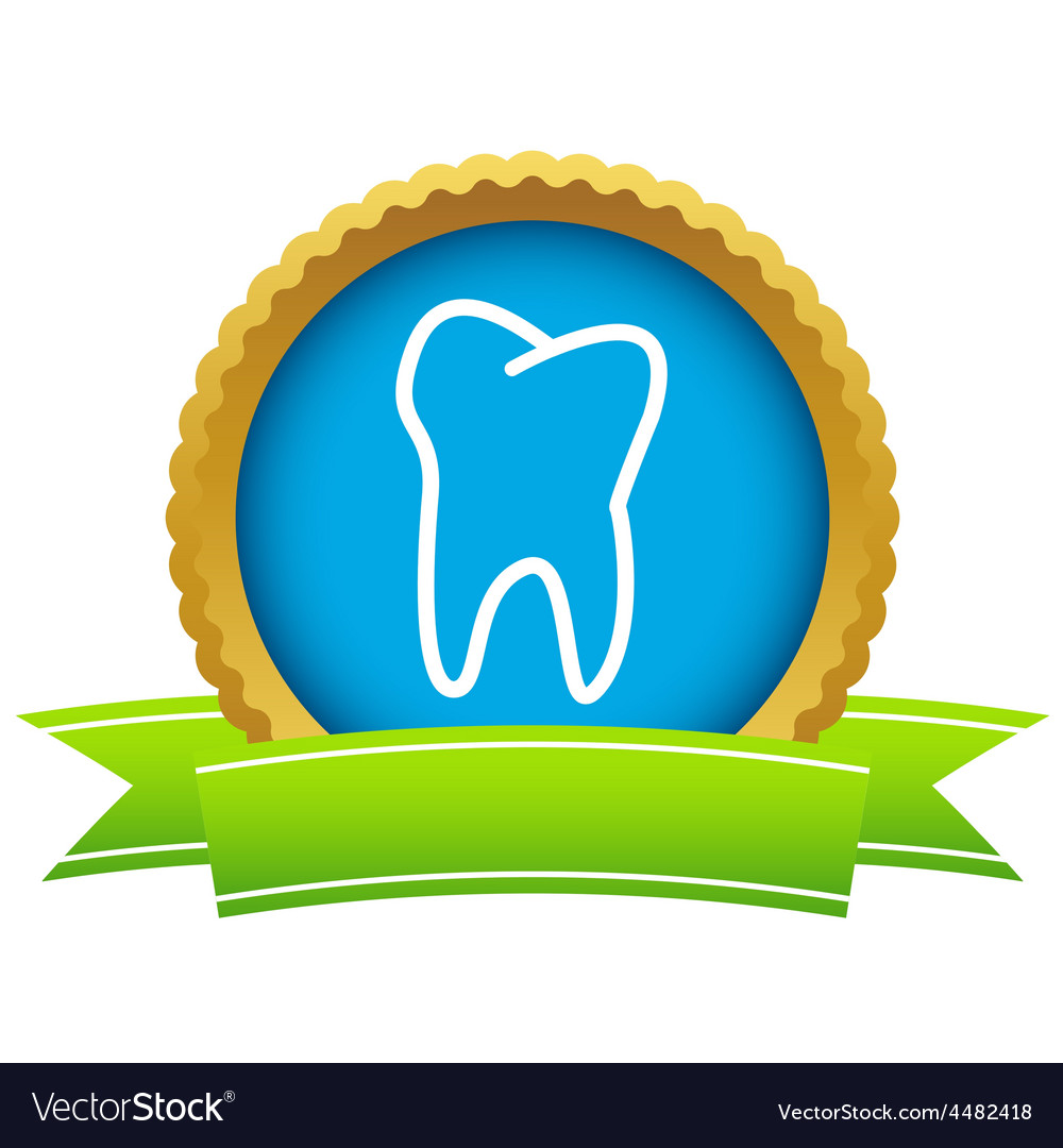 Gold tooth logo vector | Price: 1 Credit (USD $1)