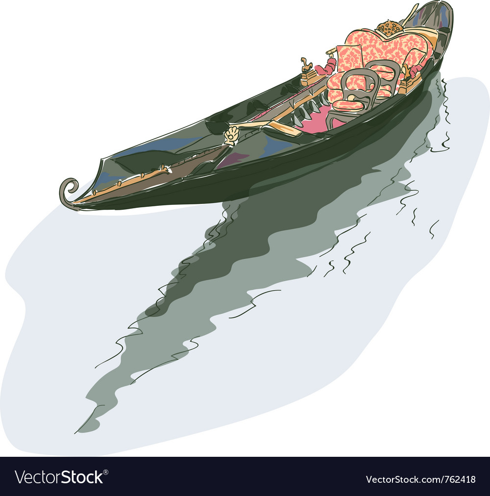 Gondola watercolor style vector | Price: 3 Credit (USD $3)