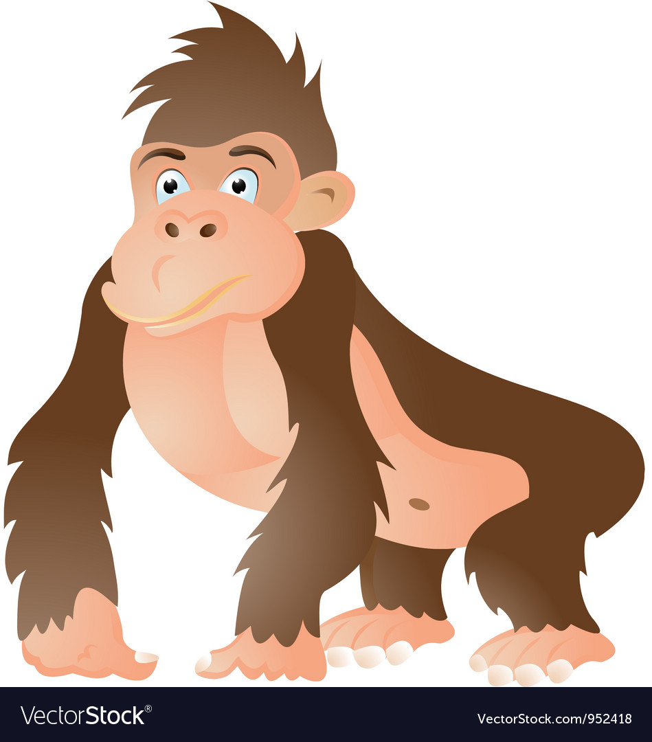 Gorilla cartoon vector | Price: 1 Credit (USD $1)
