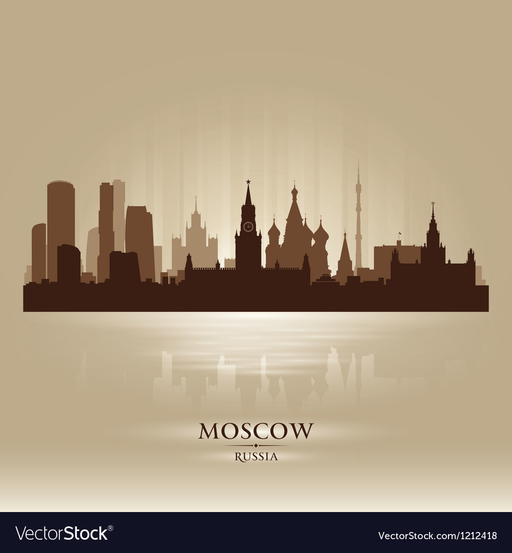 Moscow russia skyline city silhouette vector | Price: 1 Credit (USD $1)
