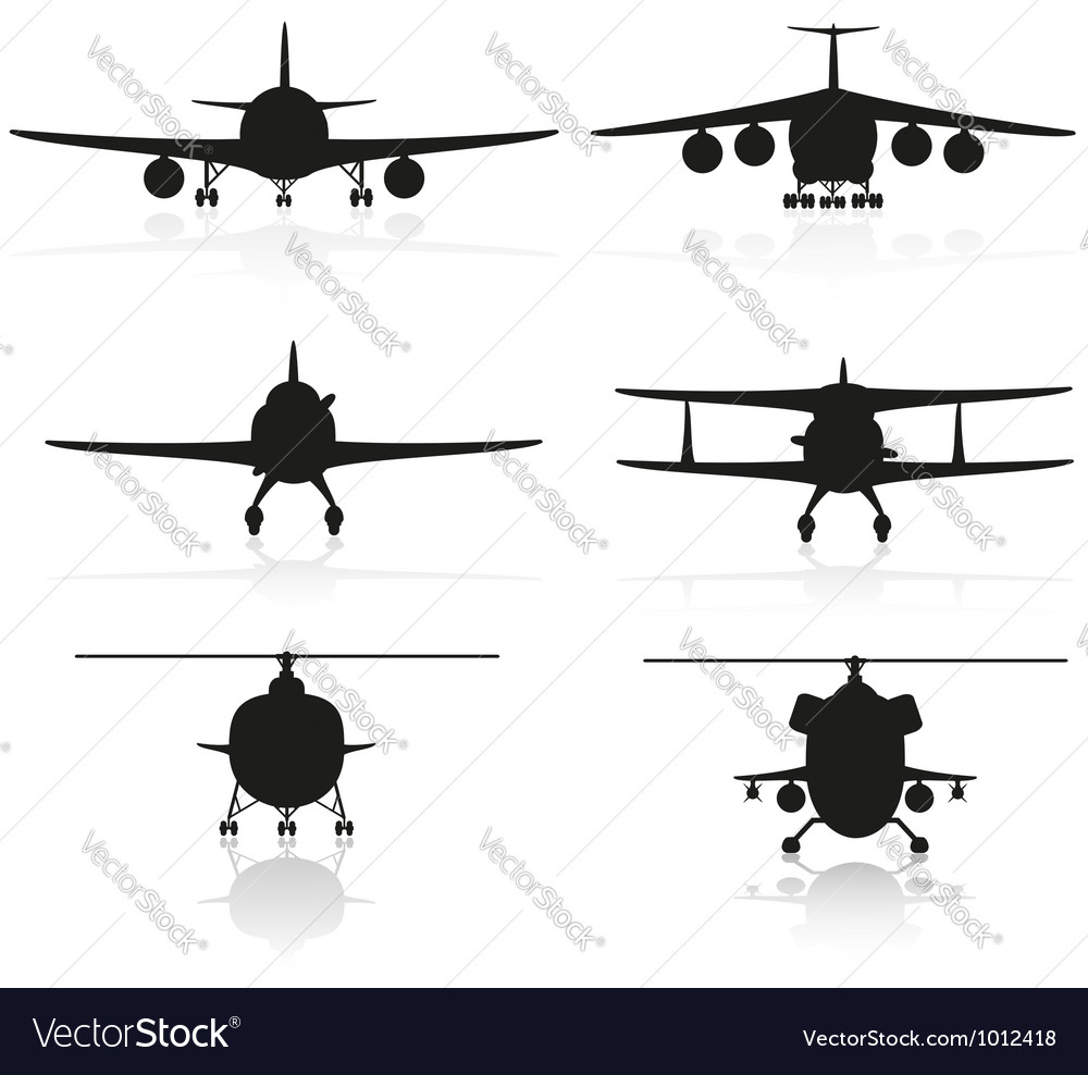 Set icons airplane 02 vector | Price: 1 Credit (USD $1)