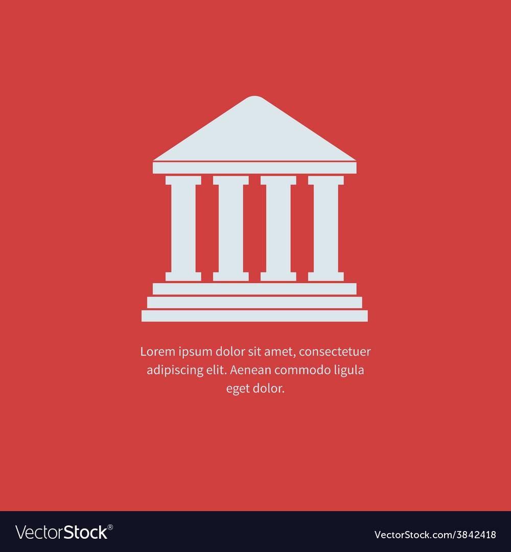 University icon vector | Price: 1 Credit (USD $1)