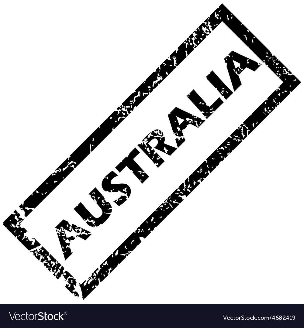Australia rubber stamp vector | Price: 1 Credit (USD $1)