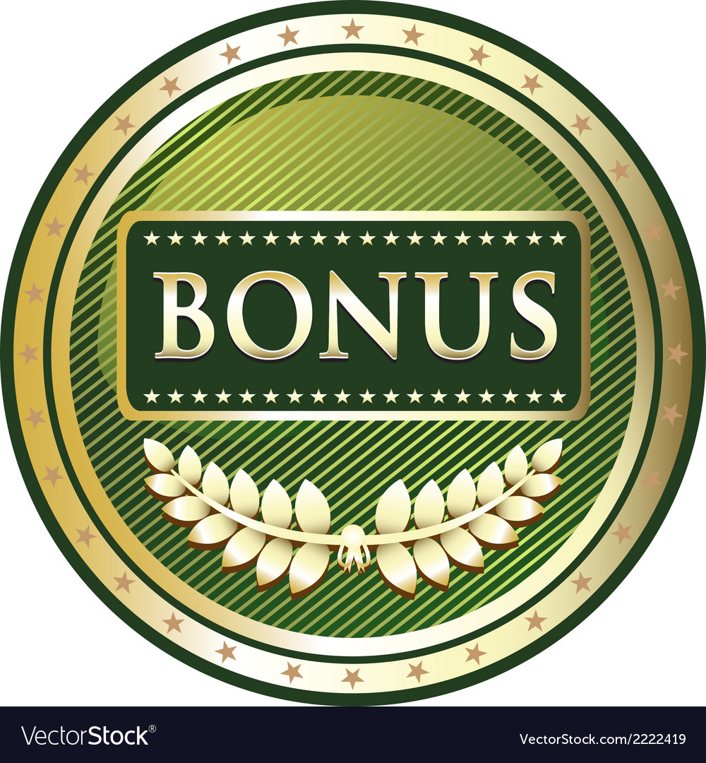 Bonus green label vector | Price: 1 Credit (USD $1)