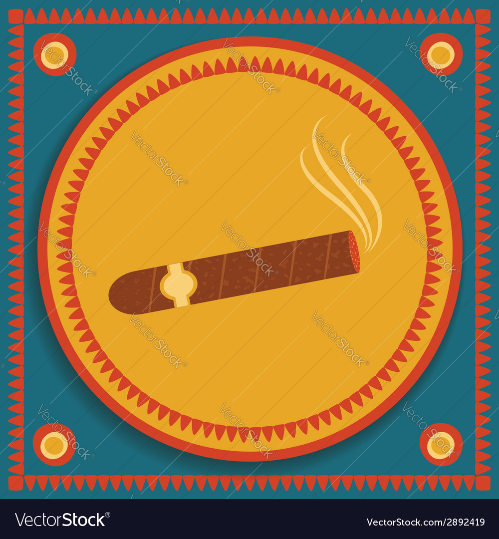Cigar on stylized background vector | Price: 1 Credit (USD $1)