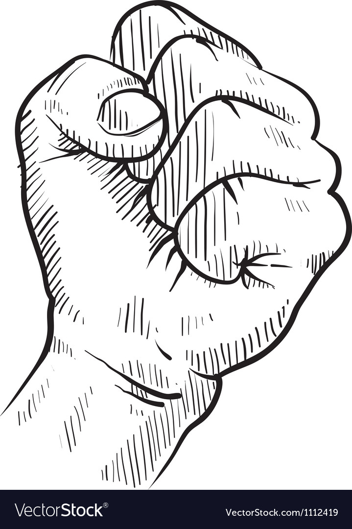 Doodle hand fist protest concert rebel vector | Price: 1 Credit (USD $1)