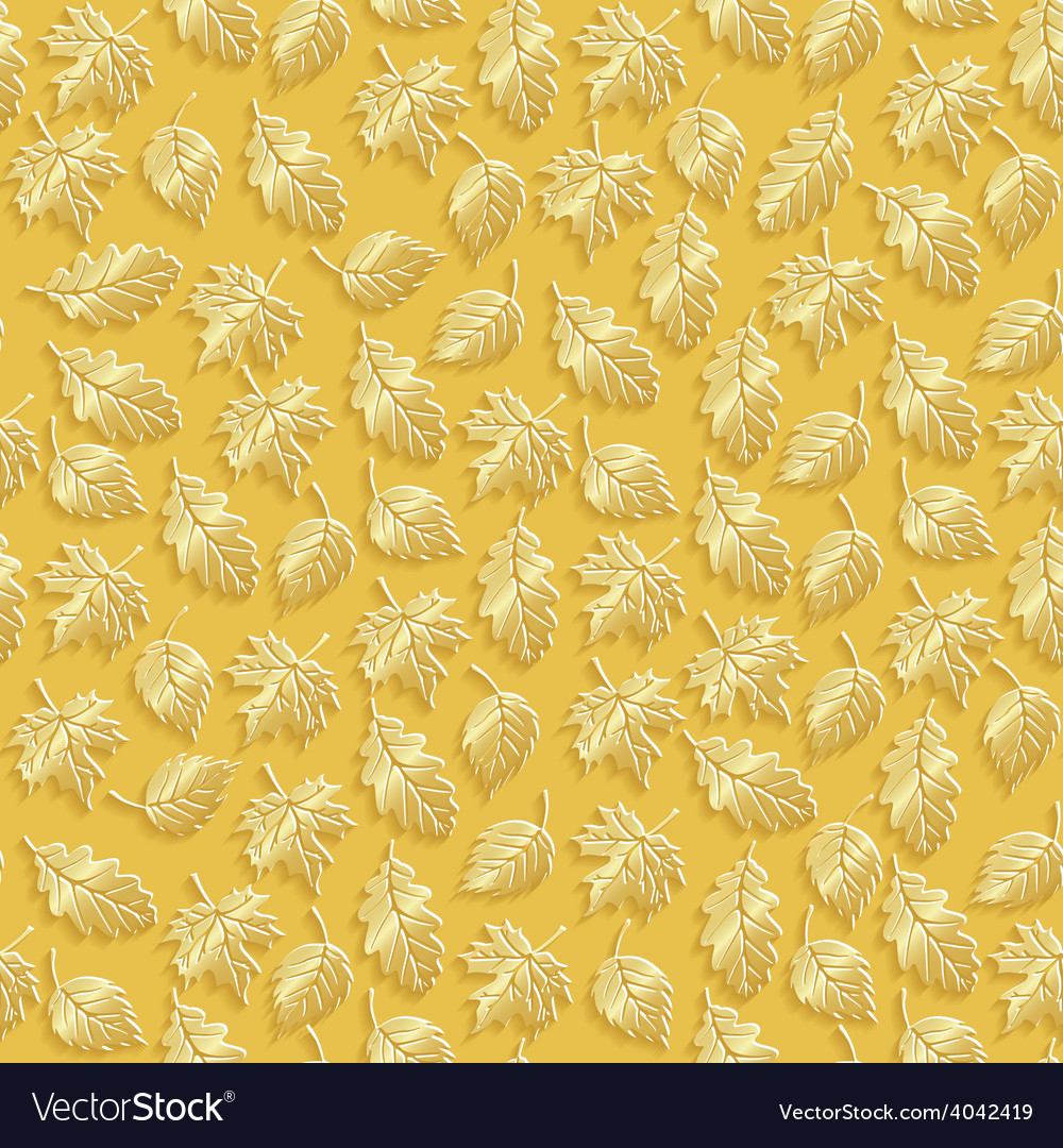 Gold leaves vector