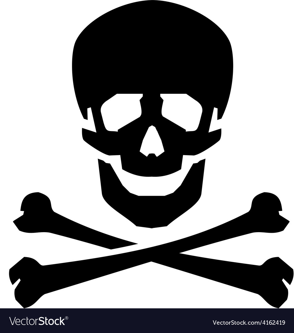 Jolly roger logo design template human vector | Price: 1 Credit (USD $1)