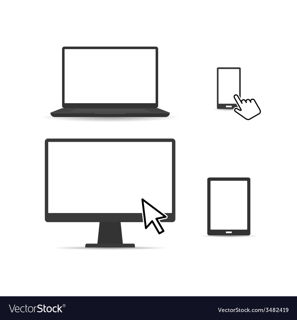 Set of digital devices vector | Price: 1 Credit (USD $1)