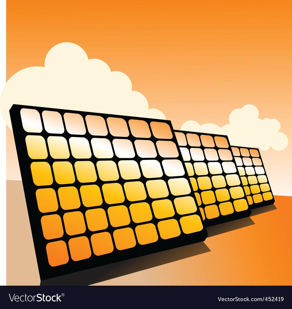 Solar panels2 vector | Price: 1 Credit (USD $1)
