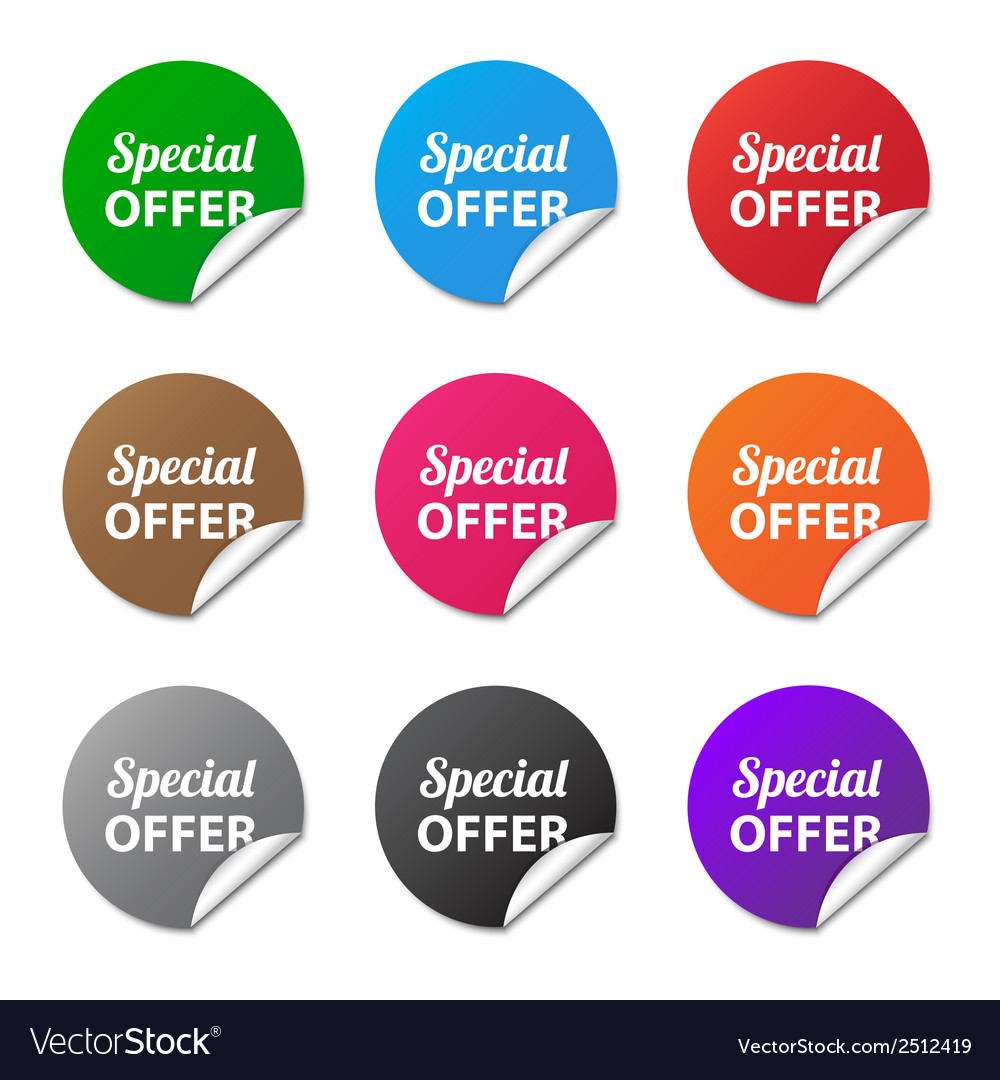 Special offer stickers vector | Price: 1 Credit (USD $1)