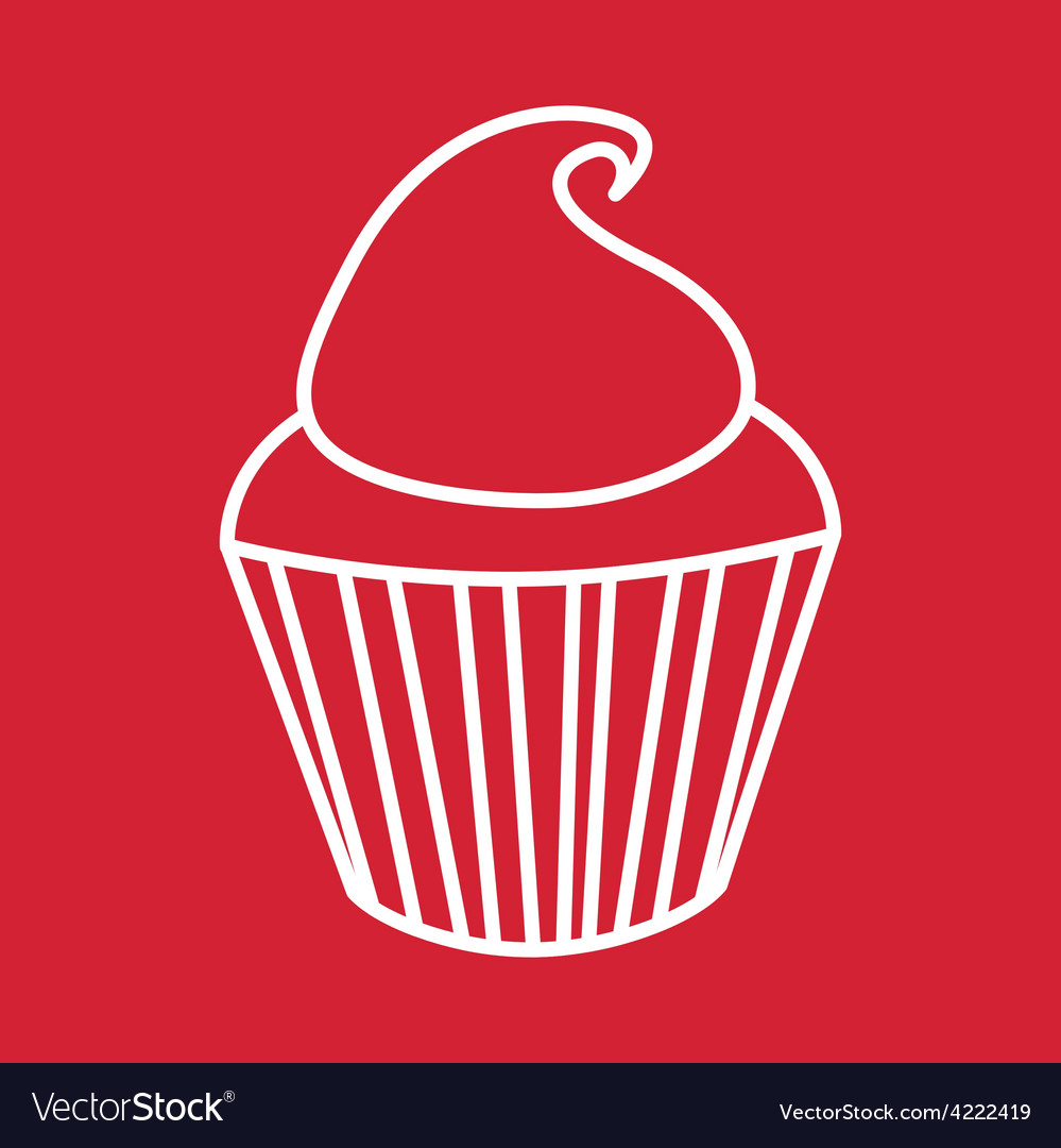 Sweet cupcake vector | Price: 1 Credit (USD $1)