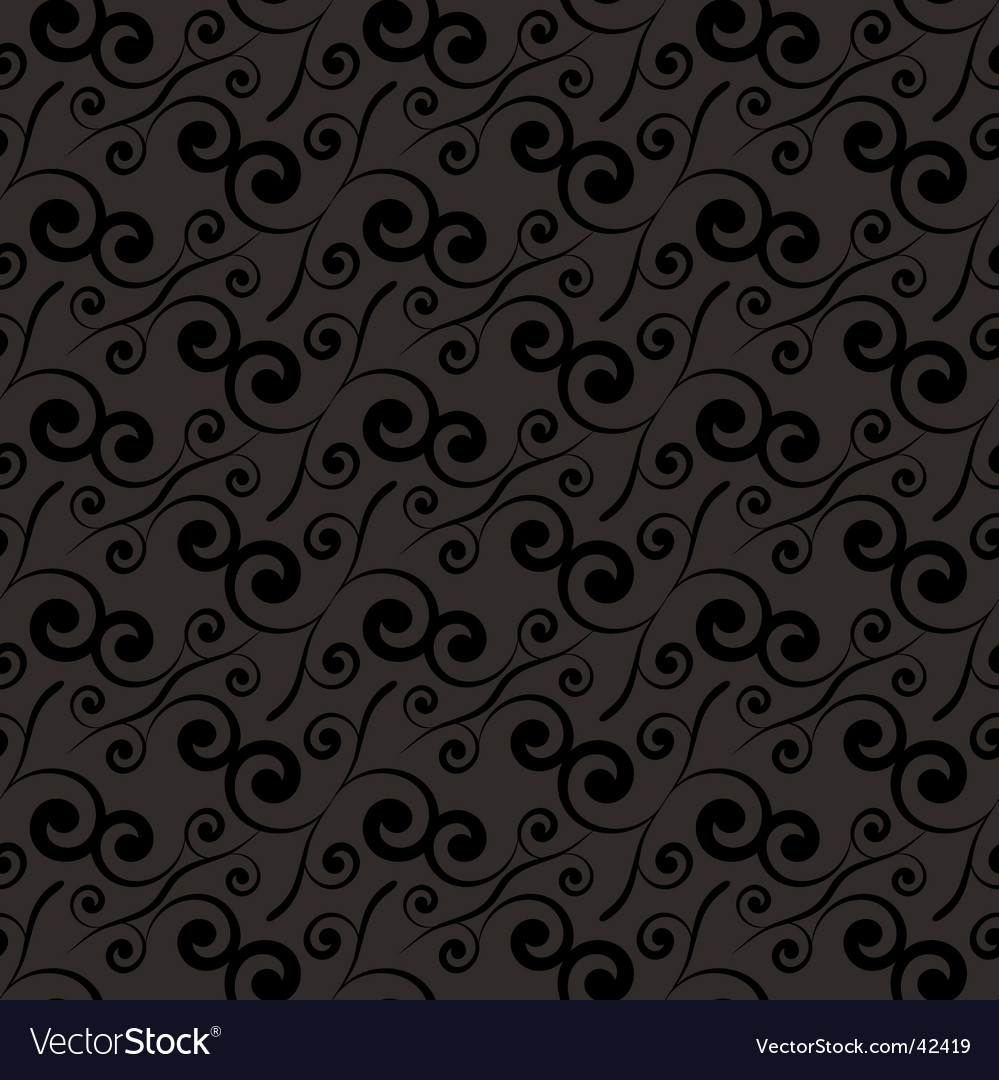 Swirl repeat black vector | Price: 1 Credit (USD $1)