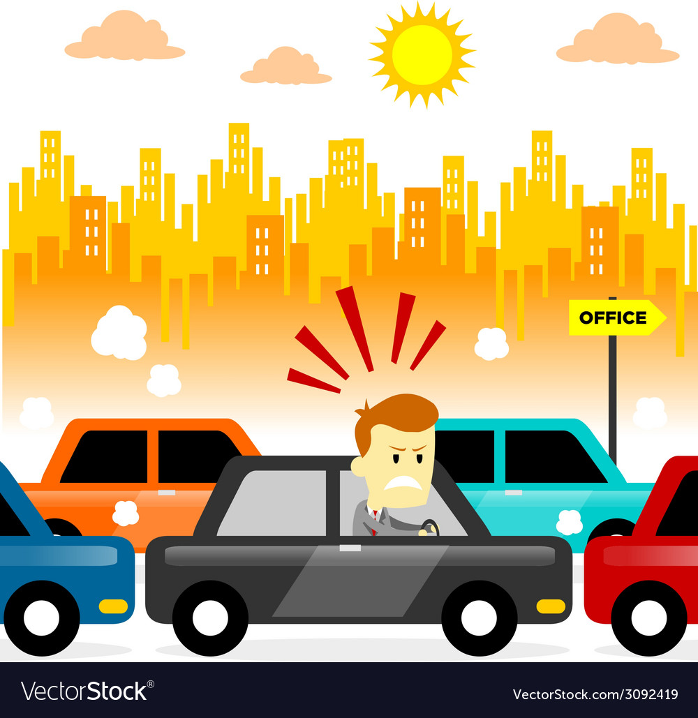 Traffic jam vector | Price: 1 Credit (USD $1)