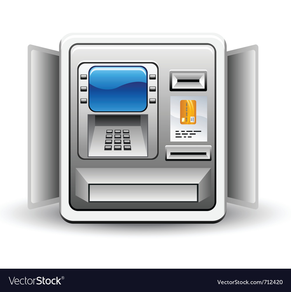 Atm machine vector | Price: 3 Credit (USD $3)