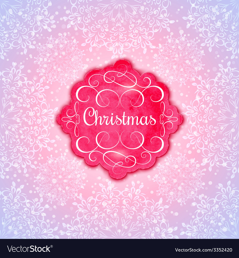 Background with christmas label greeting card vector | Price: 1 Credit (USD $1)
