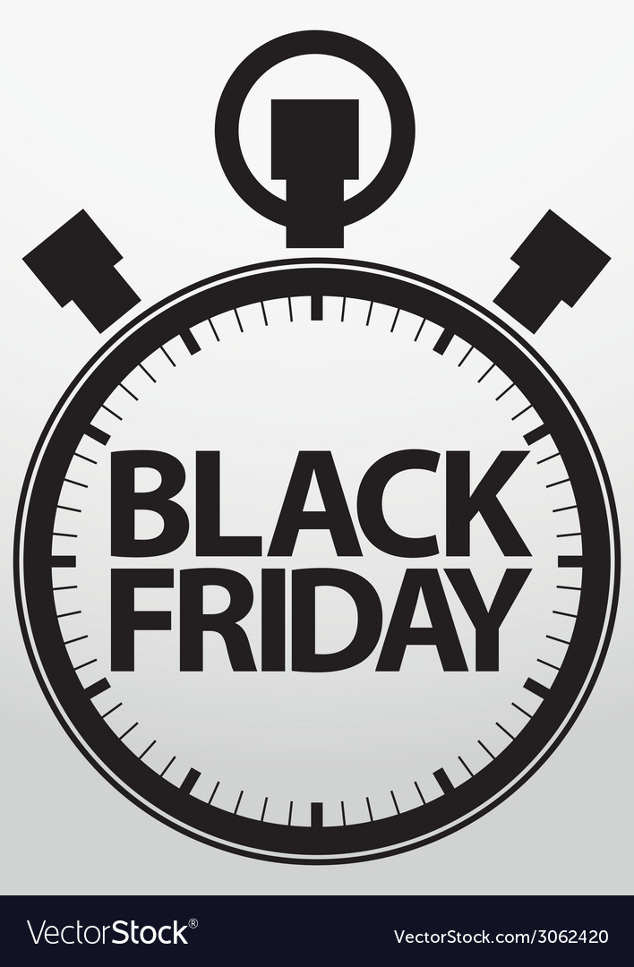 Black fridaystopwatch icon vector | Price: 1 Credit (USD $1)