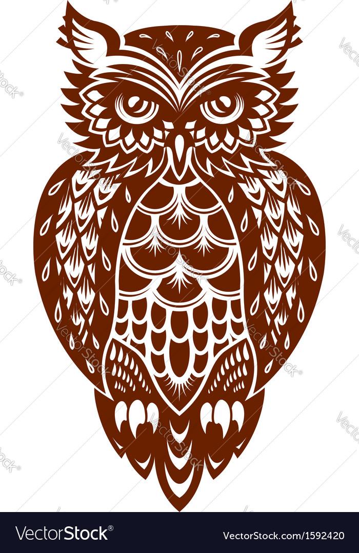 Brown owl vector | Price: 1 Credit (USD $1)