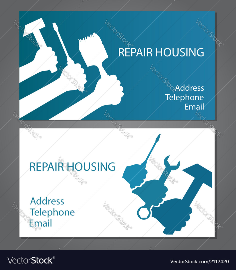 Business card for home repair vector | Price: 1 Credit (USD $1)