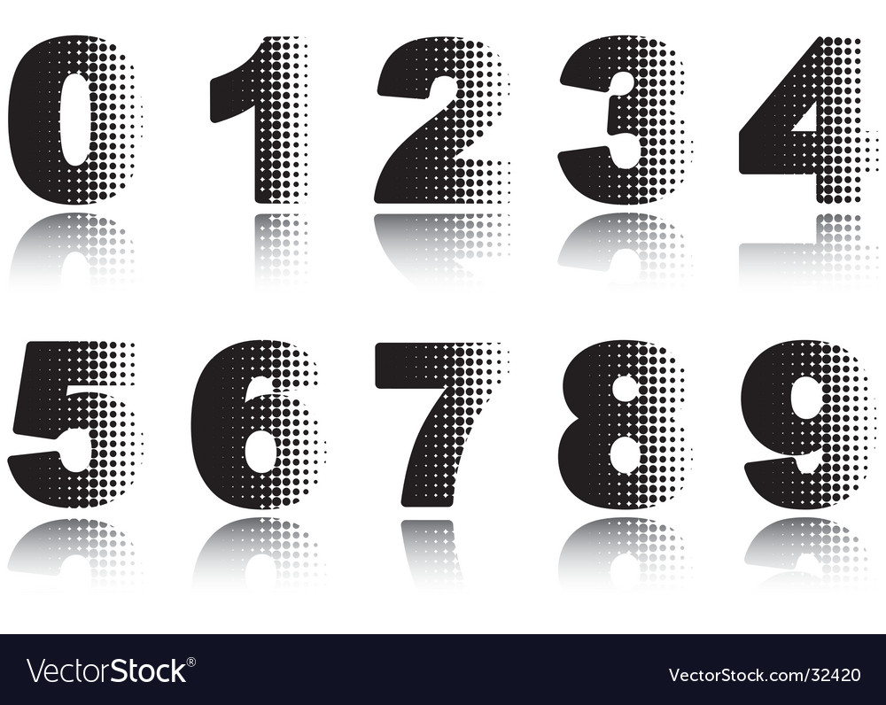 Digits vector | Price: 1 Credit (USD $1)