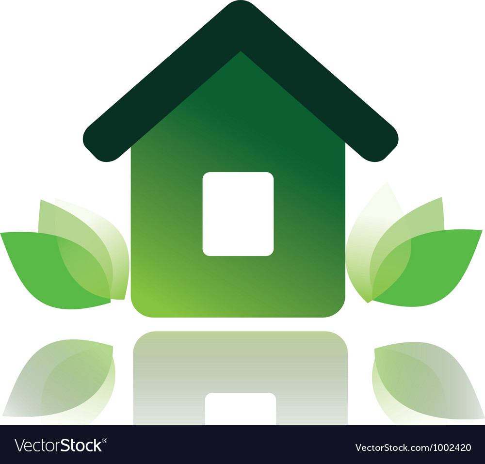 Eco home 1 vector | Price: 1 Credit (USD $1)