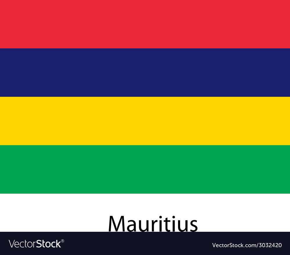 Flag of the country mauritius vector | Price: 1 Credit (USD $1)