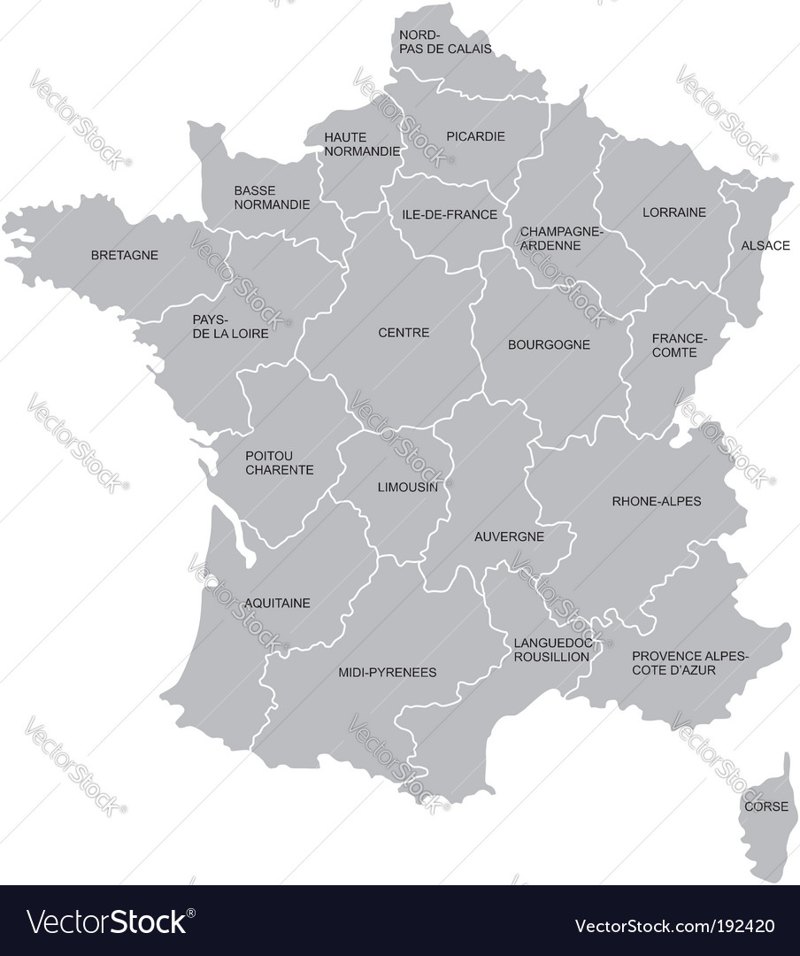 French map vector | Price: 1 Credit (USD $1)