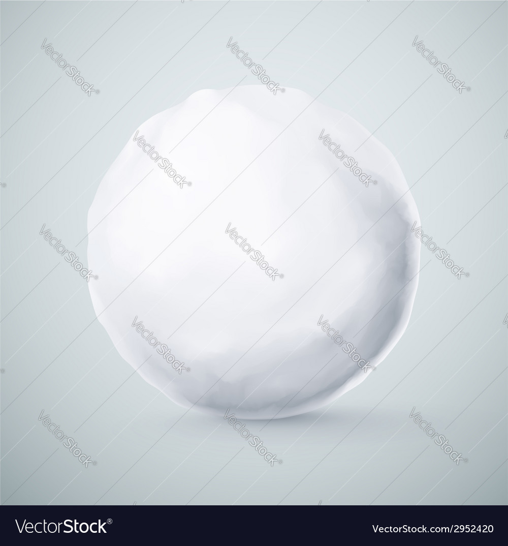 Isolated snowball vector | Price: 1 Credit (USD $1)