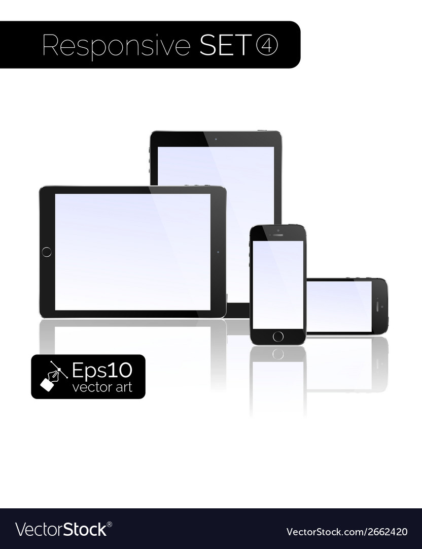 Modern monitor glossy tablet and smartphone vector | Price: 1 Credit (USD $1)