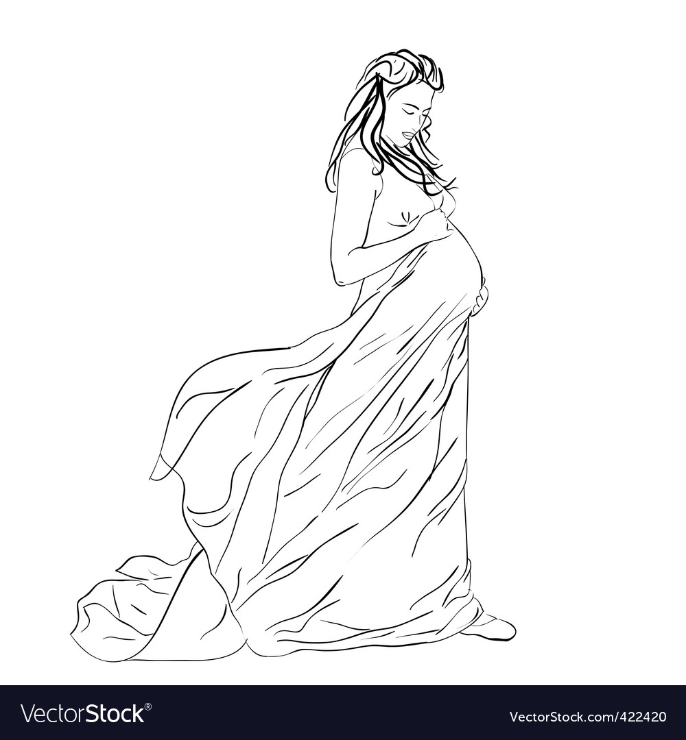 Pregnant woman vector | Price: 3 Credit (USD $3)