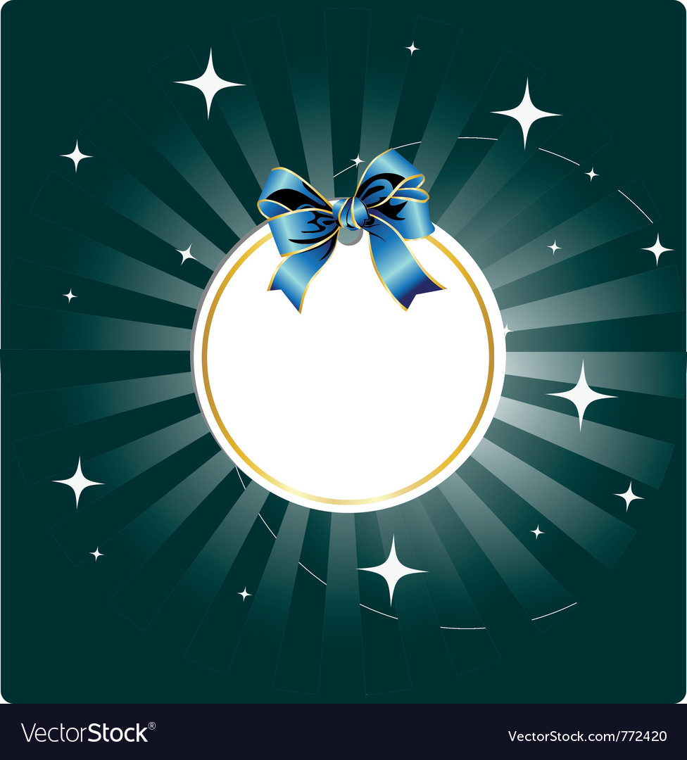 Stars night card vector | Price: 1 Credit (USD $1)