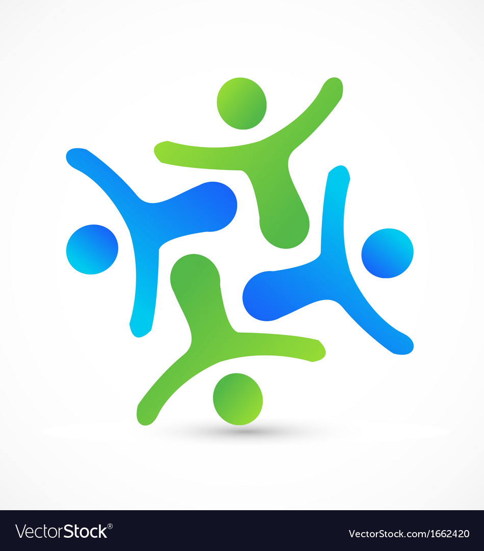 Teamwork business people logo vector | Price: 1 Credit (USD $1)