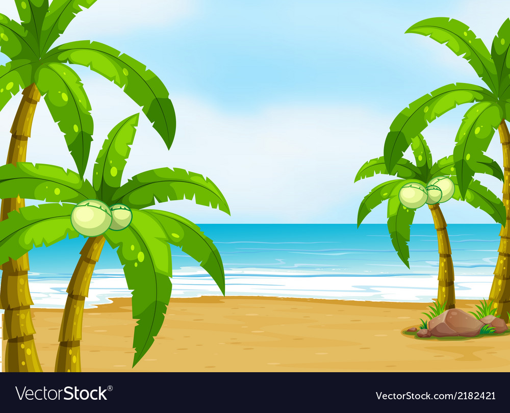 A peaceful beach vector | Price: 1 Credit (USD $1)