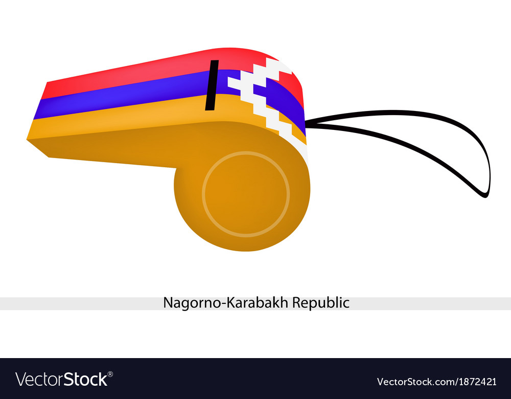 A whistle of the nagorno karabakh republic vector | Price: 1 Credit (USD $1)