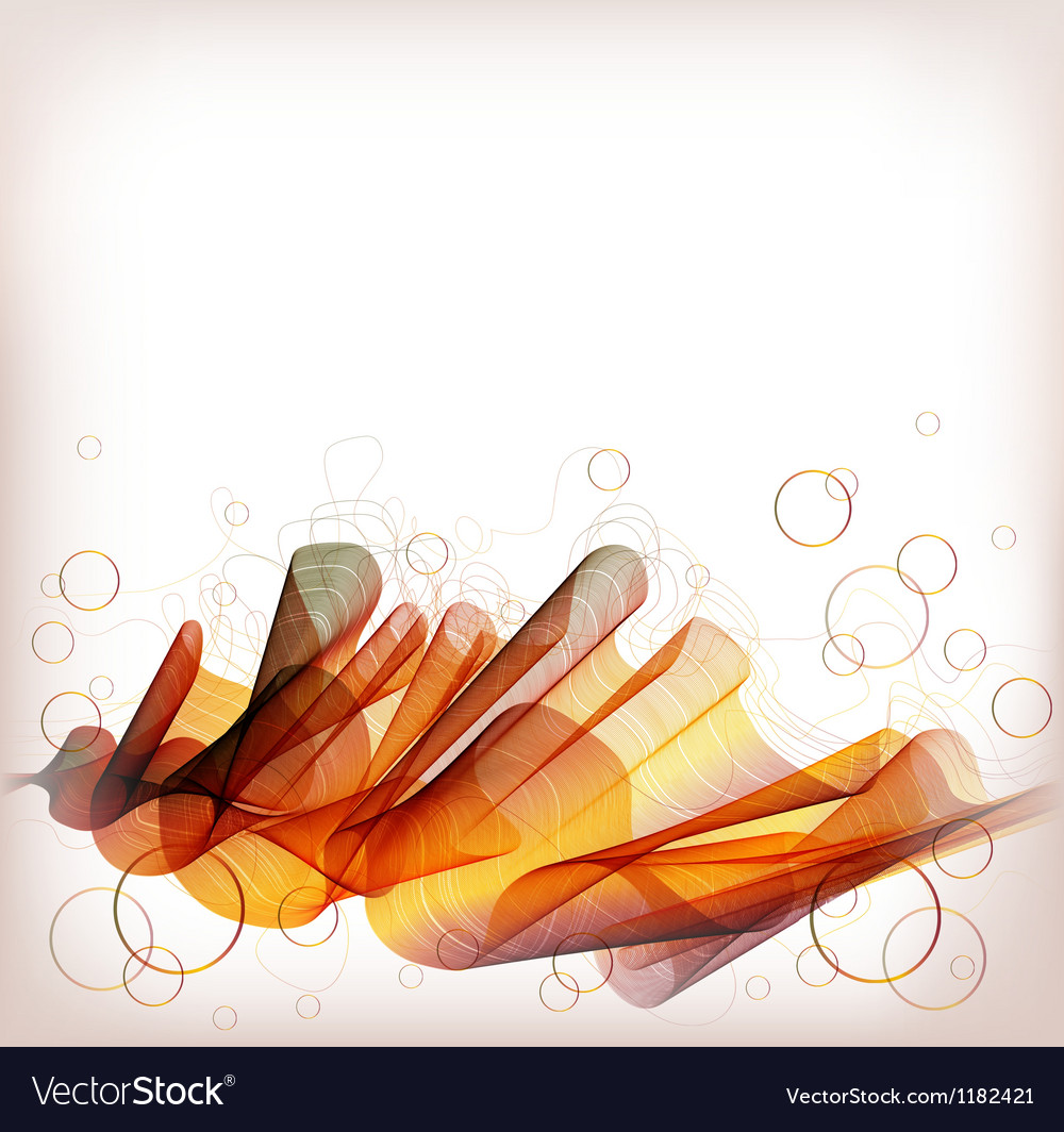 Abstract background orange wave vector | Price: 1 Credit (USD $1)