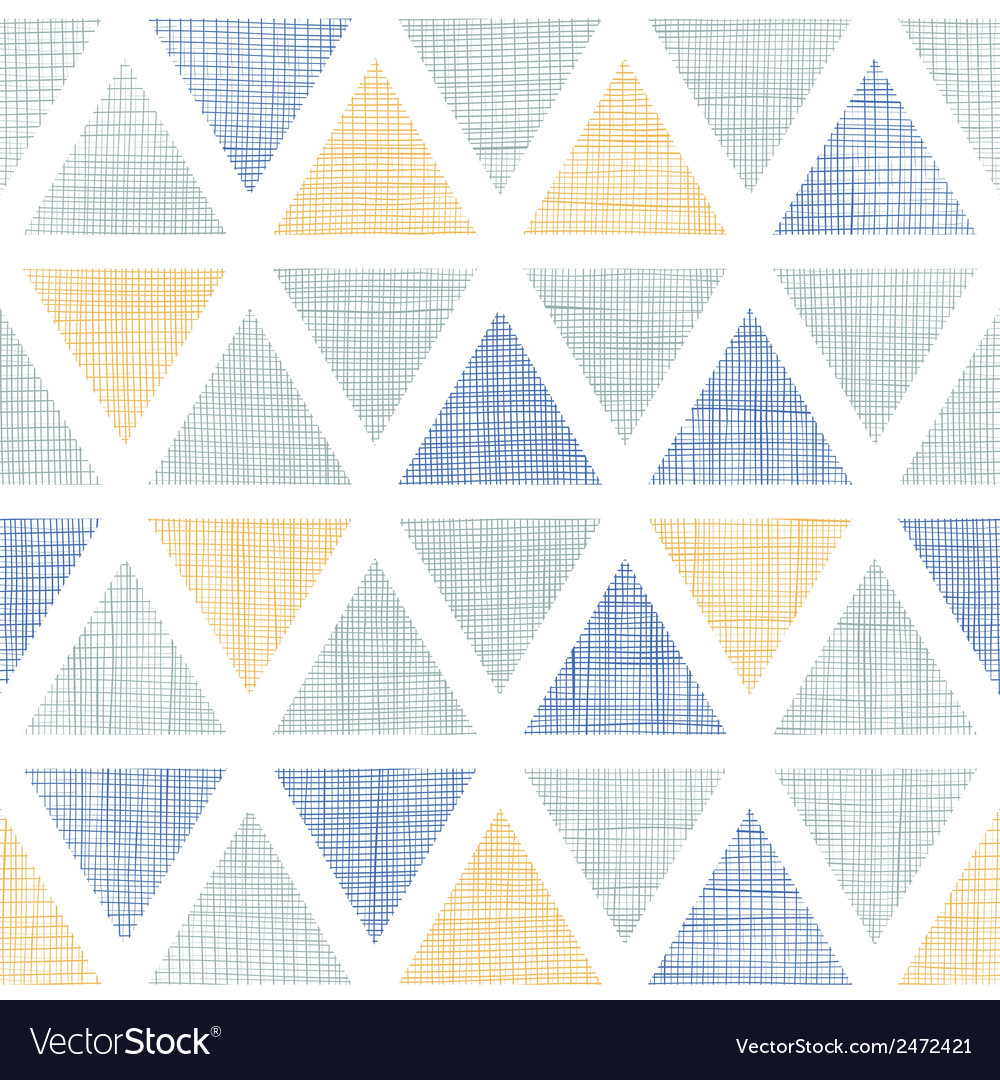 Abstract textile ikat triangles seamless pattern vector | Price: 1 Credit (USD $1)