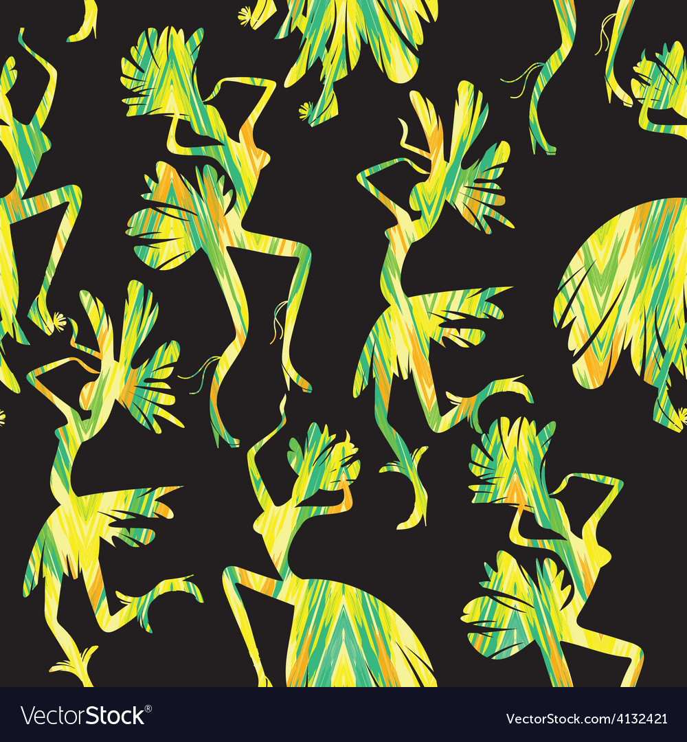 Brazilian carnival seamless pattern vector | Price: 1 Credit (USD $1)