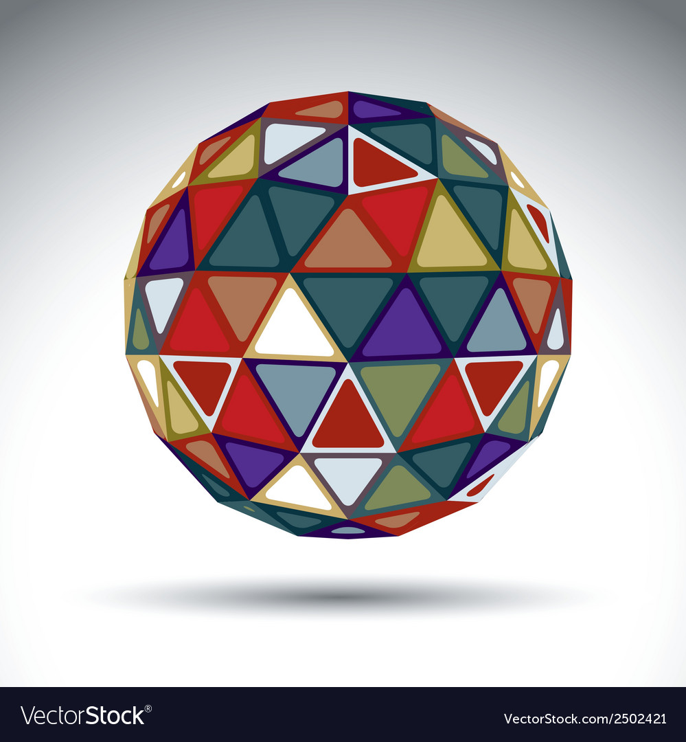 Bright abstract spherical object with kaleidoscope vector | Price: 1 Credit (USD $1)
